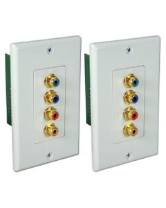 HDTV Component Video with Digital Audio Cat5e Wallplate Extender Kit