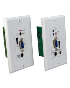 300m VGA/UXGA with Audio Single Cat5e/6 Wallplate Extender Kit