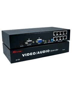 8 Port VGA/QXGA with Stereo Audio Cat5e/RJ45 Extender System Transmitter Module with Local Port