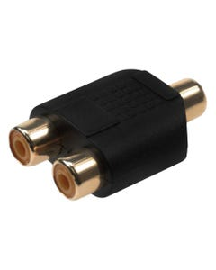 RCA Female to 2 RCA Female Y-Adapter