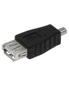 USB A Female to Mini USB B 4 Pin Male Adapter