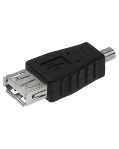 USB A Female to Mini USB B 4 Pin Male Adapter