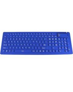 Flexible Fullsize Multimedia Keyboard, Blue