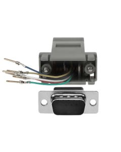 DB9 Male to RJ11/12 (6 wire) Modular Adapter
