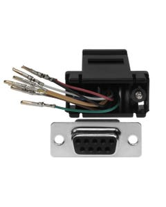 DB9 Female to RJ45 Modular Adapter Color Black