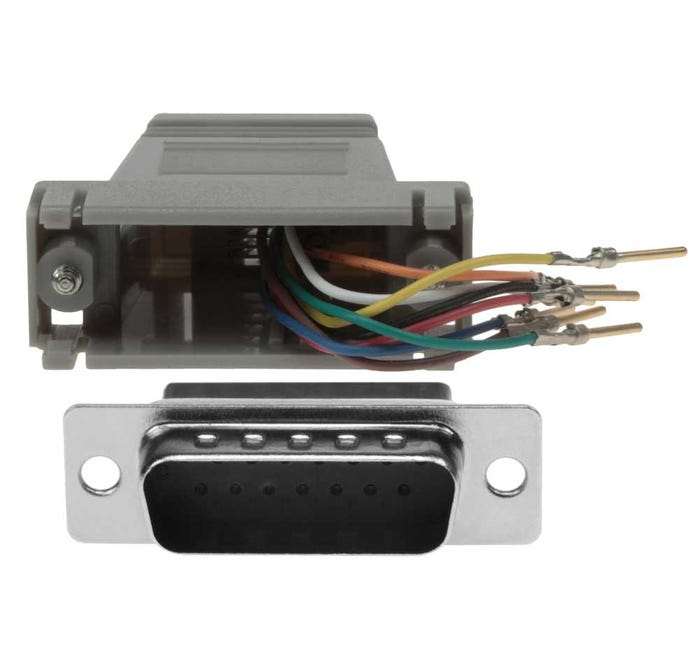 DB15 Male to RJ45 Modular Adapter Db To Rj Wiring Diagram on