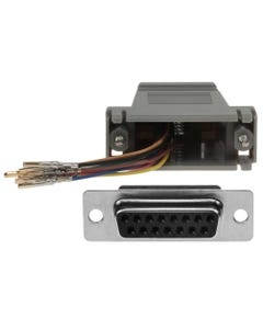 DB15 Female to RJ45 Modular Adapter