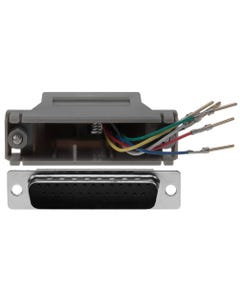 DB25 Male to RJ11/12 (6 wire) Modular Adapter