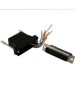DB25 Male to RJ50 Modular Adapter Black