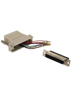 DB25 Female to RJ50 Modular Adapter
