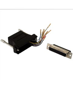 DB25 Female to RJ50 Modular Adapter Black