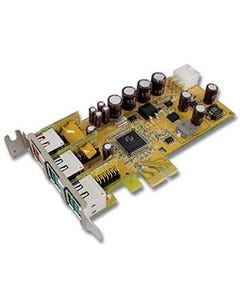1-Port 24V & 2-Port 12V Powered USB PCI Express Low Profile Add-On Card