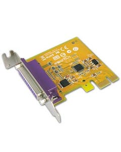1 Port DB25 Female IEEE1284 Parallel PCI Low-Profile Express Card