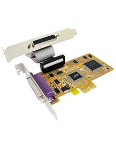 2 Port DB25 Female IEEE1284 Parallel Low-Profile PCI Express Card