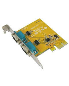 2-port DB9 Male RS-232 PCI Express Board