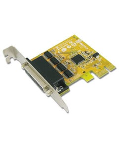 4-port DB9 Male RS-232 Low Profile PCI Express Board