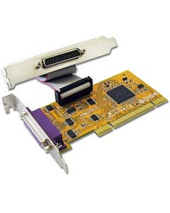 2 Port DB25 Female IEEE1284 Parallel Low-Profile PCI Card
