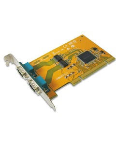2-port DB9 RS-232 Male Universal PCI Serial Remap Board