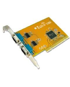 2-port DB9 RS-232 Male Universal PCI Serial Board