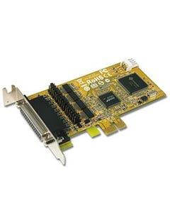 4 Port DB9 RS-232 w/ Cash Drawer Interface & DC Jack Low-Profile PCI Express Card