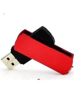 2GB Keyloop Capless USB Flash Drive - Red