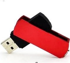 2GB Keyloop Capless USB Flash Drive - Red