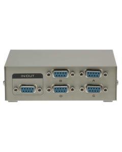 4-Way DB9 Female ABCD Serial or EGA Monitor Switch Box