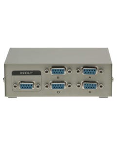 4-Way DB9 Female ABCD Serial or EGA Monitor Switch Box