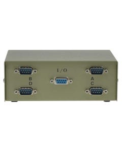 4-Way DB9 Male ABCD Data Switch Box