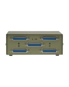 4-Way DB25 Female ABCD Straight Thru Switch Box
