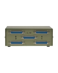 4-Way DB25 Female ABCD Straight Thru Switch Box