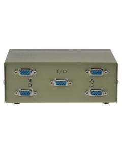 4-Way HD15 ABCD VGA Monitor Switch