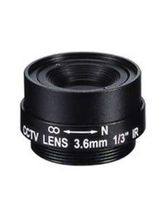 "3.6mm 1 Megapixel Fixed Iris F1.8 1/3"" CS Mount Lens"