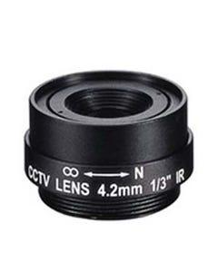 "4.2mm 1 Megapixel Fixed Iris F1.8 1/3"" CS Mount Lens"