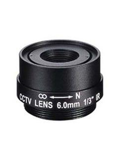 6.0mm 1 Megapixel Fixed Iris F1.8 1/3 CS Mount Lens