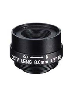 "8.0mm 1 Megapixel Fixed Iris F1.8 1/3"" CS Mount Lens"