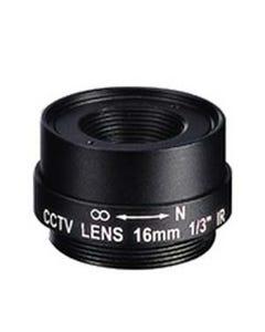 "16.0mm 1 Megapixel Fixed Iris F1.8 1/3"" CS Mount Lens"