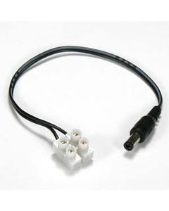 """Power supply Plug 2.1mm w/7"""" wire, Screw Terminal"""