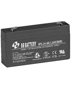 6V 1.2Ah Battery T1 Terminal, BP1.2-6-T1