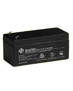 12V 3Ah Battery, T1 Terminal BP3-12-T1