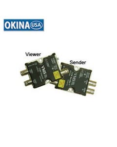 Coax cable Tranceiver, 1-Video/1-Aoudio/1-DC Power Okina VMS2200K