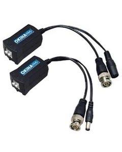 Passive Video Balun w/DC Power Connection (2pc)