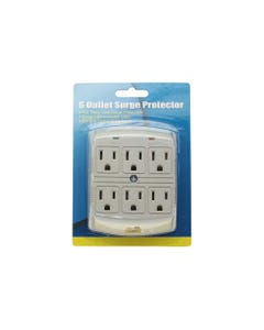 6 Outlet Plug-In Surge Protector