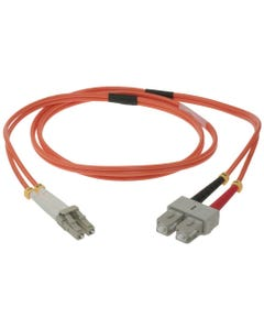 LC-SC Duplex Multimode 62.5/125 Fiber Optic Cable