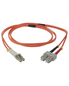LC-SC Duplex Multimode 50/125 Fiber Optic Cable