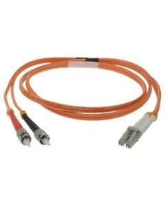 LC-ST Duplex Multimode 50/125 Fiber Optic Cable