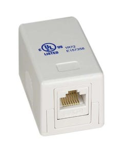 Cat 6 Surface Mount Box White