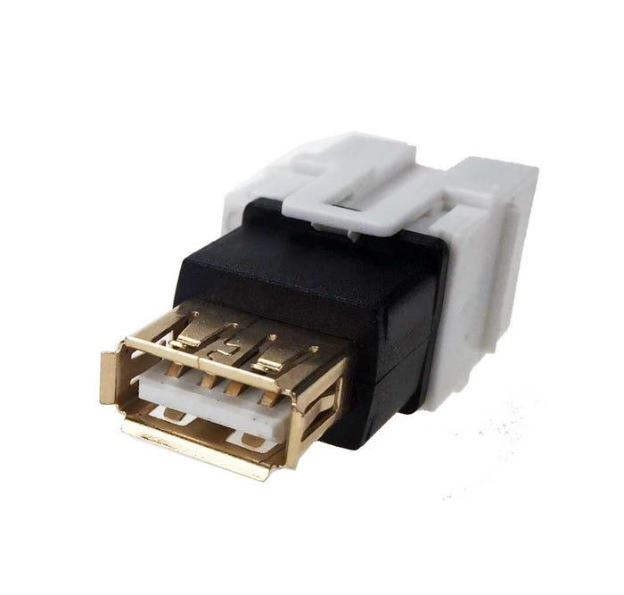 USB 2 0 Keystone Jack - Type B Female to A Female Coupler Adapter Flush Type