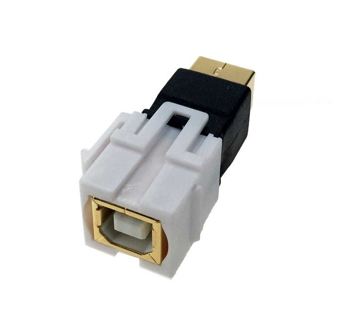 USB 2 0 Keystone Jack - Type B Female to B Female Coupler Adapter Flush Type