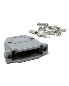 DB25 Gray Plastic Hoods Side Screw Type
